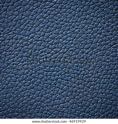 Blue textured leather surface