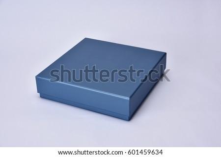 blue thin gift shopping box
