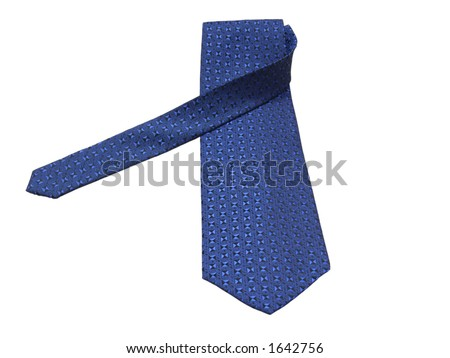Blue tie with clipping path