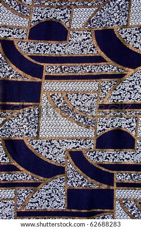 Blue tissue with gold pattern