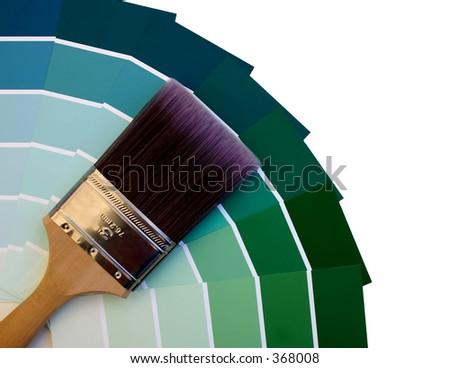 Blue to Green Paint Sampler