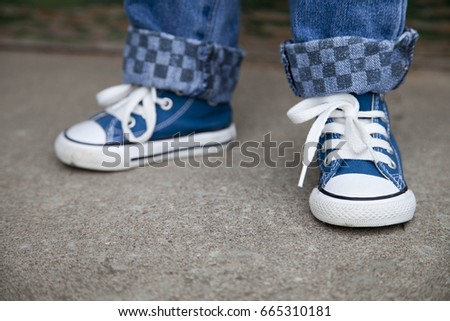 blue toddler shoes
