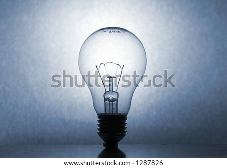 blue-tone Lightbulb