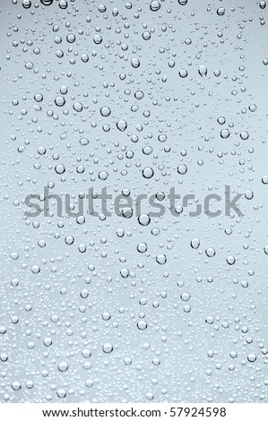 blue tone water drop on glass