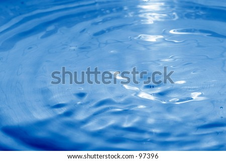 Blue toned water surface