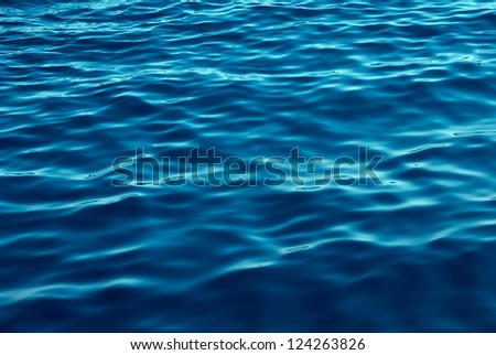 Blue Tones Water Waves Surface as Background #124263826