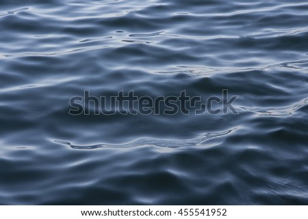 Blue tones Water waves surface for background or texture  #455541952