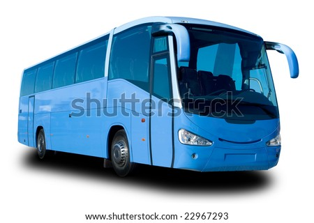 Blue Tour Bus