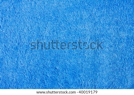 Blue towel background