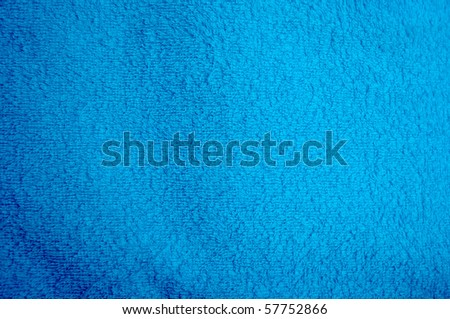 Blue towel background - stock photo