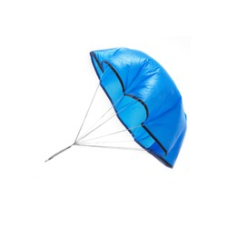blue toy parachute