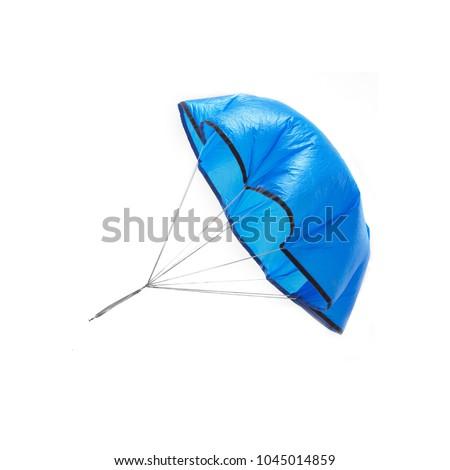 blue toy parachute