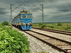 Blue train is coming