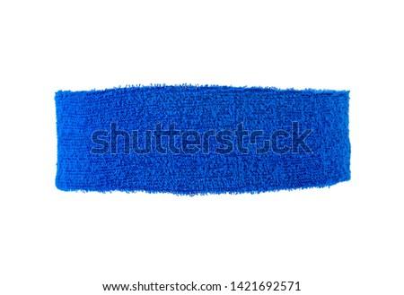 Blue training headband isolated on a white background Foto stock ©