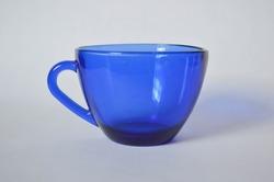 Blue translucent mug coffee tea