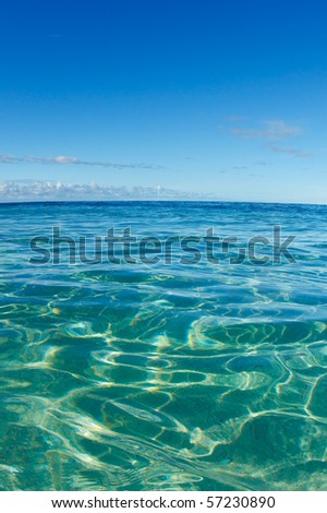 Blue Tropical Ocean