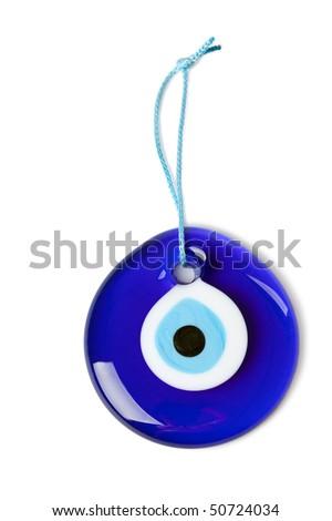 blue turkish eye - stock photo