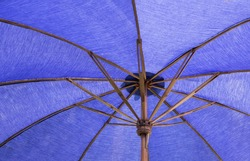 blue umbrella background
