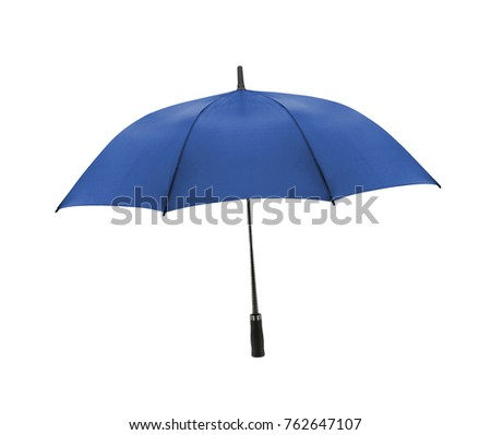 blue umbrella isolated on white background #762647107