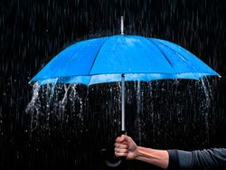 Blue Umbrella Rain