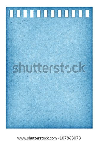 blue vintage page ripped off from the notebook. - stock photo