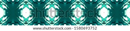 Blue Vintage Repeat Pattern Tile. Ethnic Ornament Print. Ornamental Geometry. Black Indigo Embroidery net. Antique Element Bright Kaleidoscope Effect. Floral Elements Floral Elements