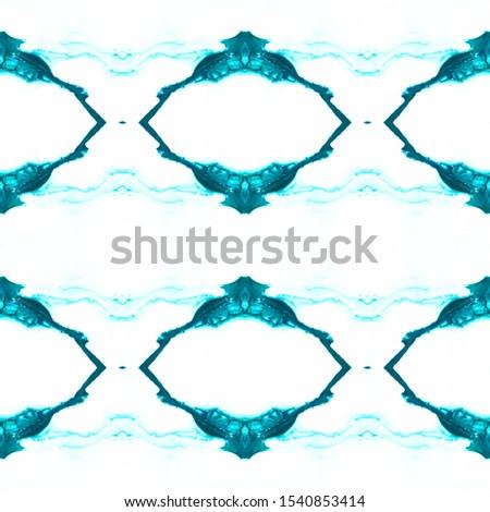 Blue Vintage Seamless Background. Ethnic Ornament Print. Ornamental Geometry. Plastic Blue Tile Dressing element Antique Element Luxury Kaleidoscope Art. Floral Elements Floral Elements