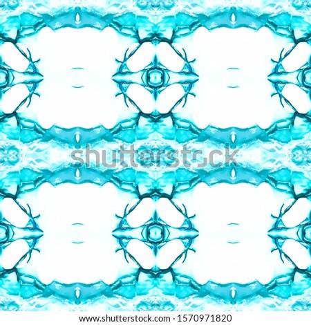 Blue Vintage Seamless Background. Ethnic Ornament Print. Ornate Tile Background Plastic Blue Tile Dressing element Antique Element Glamure Kaleidoscope Pattern Floral Elements Floral Elements