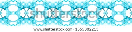 Blue Vintage Seamless Background. Ornamental Geometry. Ethnic Ornament Print. Black Blue Tile Dressing element Antique Element Royal Kaleidoscope Pattern Floral Elements Floral Design.