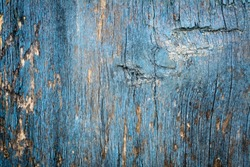 Blue vintage wood background. Blue abstract background. Top views.