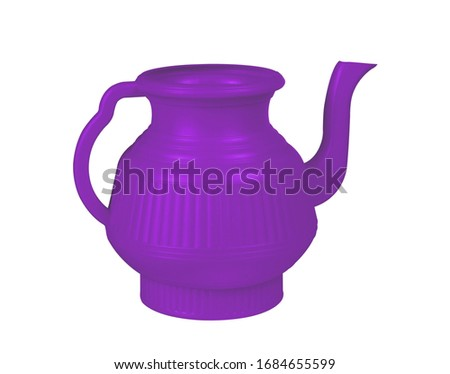 Blue-Violet, lota, lota, vessel, bodna, watering pot, garden water pot, Watering can, Watering can isolated, Watering flowers with a water can in garden, water can, plastic water, 3D render
