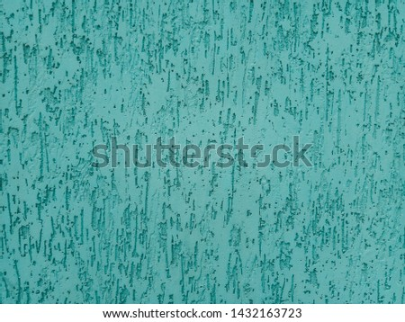 Blue wall with stucco texture. Wall with stucco background #1432163723
