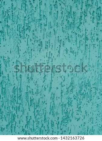 Blue wall with stucco texture. Wall with stucco background #1432163726