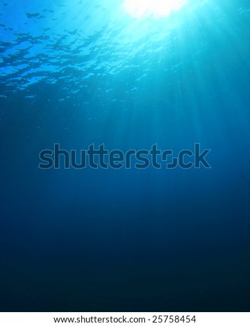 Blue Water Background in the Open Ocean