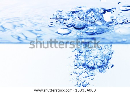 blue water bubbles clean background