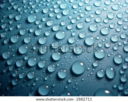 blue water-drops