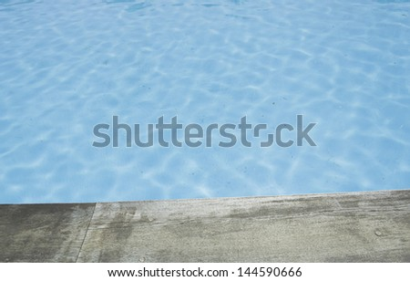 Blue water in pool recreation resort hotel, vacation and relax