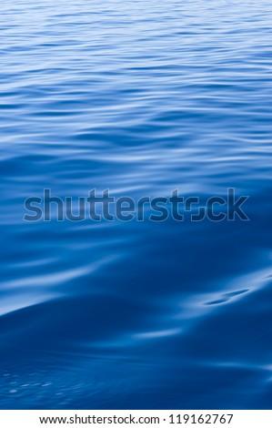 Blue water of Adriatic Sea.
