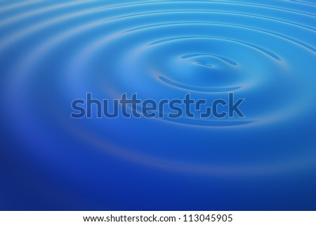 Blue Water Ripples - high quality render