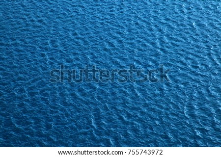 Blue water surface with waves #755743972