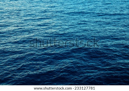 Blue Water Texture Pattern at Noon on the Atlantic Ocean #233127781