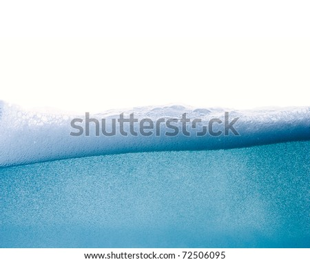 Blue water wave abstract background isolated on white