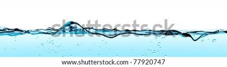 Blue Water Wave front