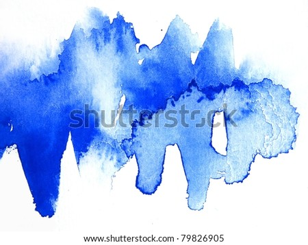 Blue Watercolor Abstract 4
