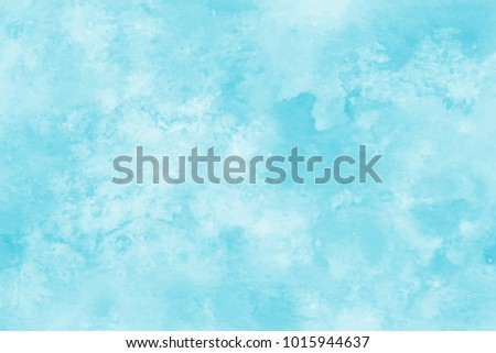 Blue watercolor background. Abstract hand paint square stain backdrop