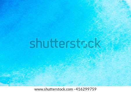 Blue watercolor background for textures and backgrounds