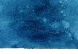 blue watercolor background on paper, shades of blue