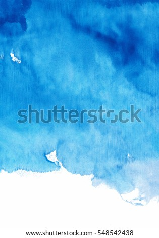 Shutterstock blue watercolor background, shades of blue