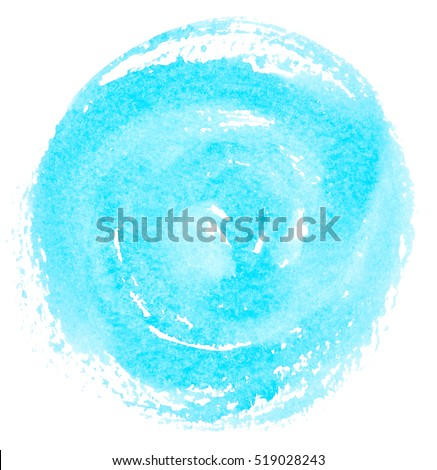 Blue watercolor circle isolated on white background #519028243