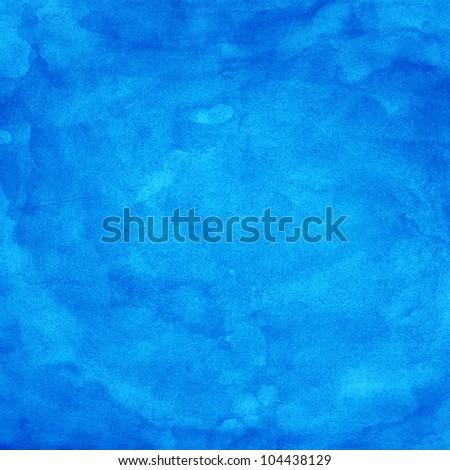 Blue watercolor texture. Color abstract aquarelle background. Handmade technique.